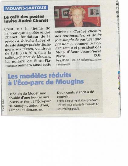 Le café des poètes invite André Chenet--11.04.2012