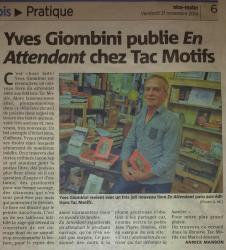 En attendant d'Yves Giombini - Article Nice Matin