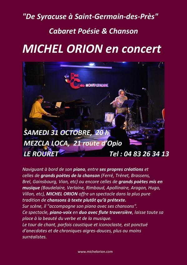 Le Rouret 31 octobre 2020 Cabaret Poésie-Chanson