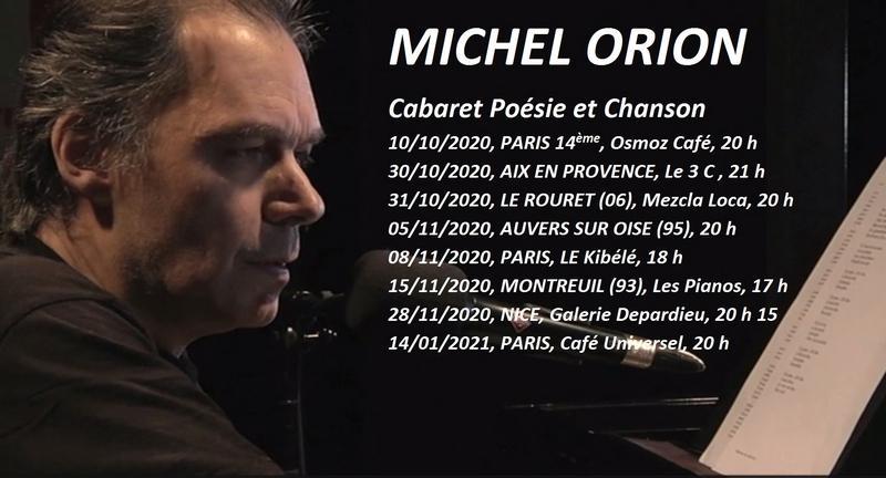 Michel Orion - Dates des concerts 2020 2021